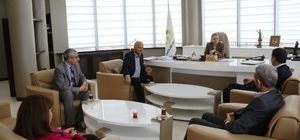 Diyarbakır Yerel Medya Derneği'nden Başkan Akat'a ziyaret