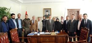 15 Temmuz Gazileri Vali Kalkancı'ya ziyaret