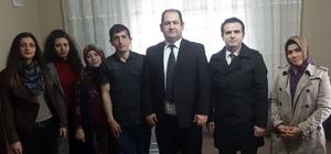 Öğretmenler, eski öğrencileri olan Afrin Gazisi'ni ziyaret etti