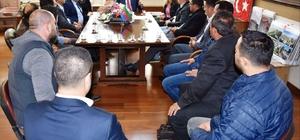 arangozlar Başkan Alıcık'ı ziyaret etti
