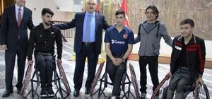 ydın Valiliği engelli sporcuların tekerlekli sandalye ihtiyacını giderdi