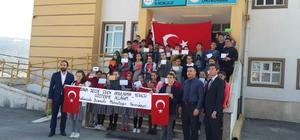 Amasyalı öğrencilerden Afrin'deki Mehmetçiğe moral mektubu