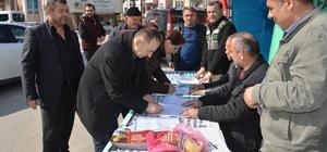 Turhal Şeker Fabrikası için Niksar'da imza kampanyası