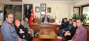 Afrin'de yaralanan Mehmetçiğin ailesinden Başkan Seyfi Dingil'e teşekkür