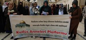 Şanlıurfalı kadınlardan Kudüs'teki zülme tepki