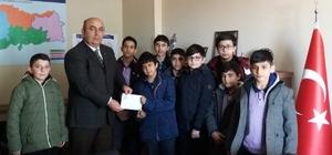 Kazım Karabekir İmam Hatip Ortaokulu öğrencilerinden anlamlı bağış