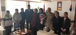 Güroymaklı öğrencilerden Afrindeki Mehmetçik'e mektup