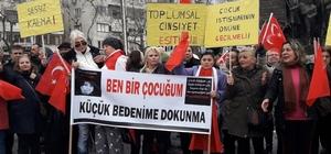 Çocuk ve kadına yönelik saldırılar protesto edildi