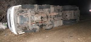 Elazığ'da kamyon devrildi: 1 yaralı