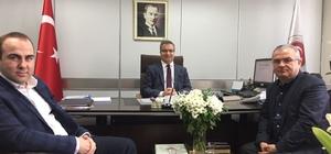 Gülamoğlu ve Alkıkulaç, Genel Müdür Şahin'i ziyaret etti