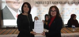 AK Parti İnebolu Kadın Kolları Başkanlığına Tülay Kırcaoğlu seçildi