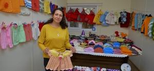 Maltepeli kadınlar çocuklar için örüyor