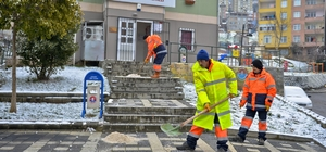 Maltepe'de 200 personelle kar mücadelesi