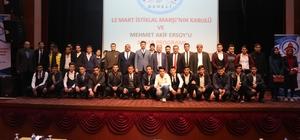Develi'de İstiklal Marşı'nın kabulünün 97. yıl dönümü kutlaması yapıldı
