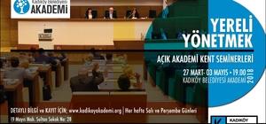 """Kadıköy'de  """"Yereli Yönetmek"""" seminerleri başlıyor"""