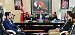 Başkan Akgül üniversitelilerle tecrübelerini paylaştı
