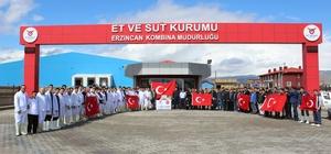 Erzincan Et ve Süt Kurumu çalışanları istihkaklarını Mehmetçiğe uğurladı