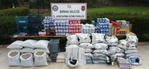 Şırnak'ta 154 bin TL değerinde gümrük kaçağı malzeme ele geçirildi