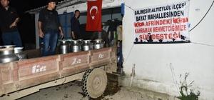 Balıkesir'de süt geliri Afrin'deki Mehmetçik'e