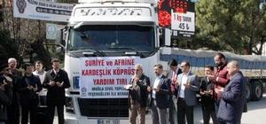 Suriye ve Afrin'e yardım TIR'ı yola çıktı