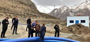 Başkan Vekili Epcim, su deposu çalışmalarını denetledi