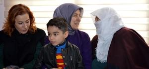 Sare Davutoğlu'ndan Afrin şehidinin ailesine taziye ziyareti