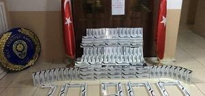 Çatak'ta 20 bin 900 paket kaçak sigara ele geçirildi