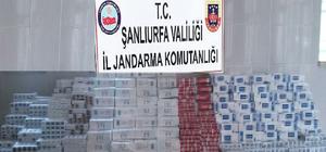 Ceylanpınar'da 9 bin 500 paket kaçak sigara ele geçirildi