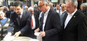 Alaşehir CHP'den Çanakkale şehitleri için pilav ve hoşaf hayrı