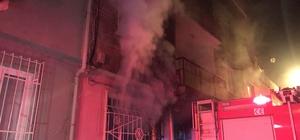 Evde çıkan yangında 4 kişi dumandan etkilendi