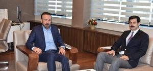 İSU Şube Müdürü Bektaş, Başkan Doğan'ı ziyaret etti