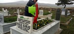 Eskişehir'de şehit mezarlarının bakımı yapıldı