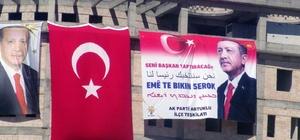 Mardin'de Erdoğan için 4 dilde 'Seni başkan yaptıracağız' pankartı