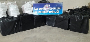 Nizip'te 4 bin paket kaçak sigara ele geçirildi