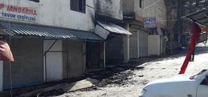 Osmaniye'de çıkan yangında bir iş yeri ve dört ev yandı