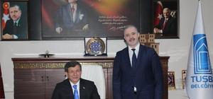 Ahmet Davutoğlu'ndan Tuşba Belediyesine ziyaret