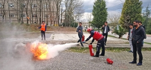 SAÜ'de 'Yangınla Başa Çıkabilme' eğitimi