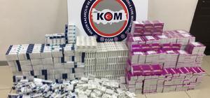 Mersin'de 31 bin 92 tablet kaçak hap ele geçirildi