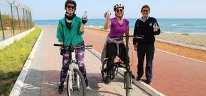 Mezitli Belediyesi'nden spor yapana su desteği