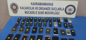 Kahramanmaraş'ta 45 adet kaçak cep telefonu ele geçirildi