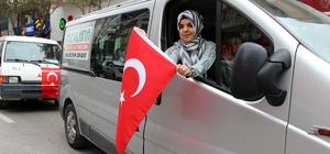 Afrin'e giren Mehmetçiğe Manisa'dan konvoylu destek