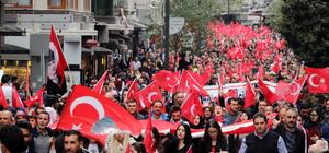 OMÜ'den 'Şehitlere saygı yürüyüşü'