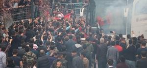 Nevşehirsporlu taraftarlar şampiyonluk provası yaptı