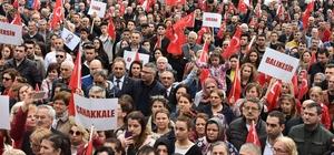 Tekirdağ'da CHP'den 'Şehitlere Saygı' yürüyüşü