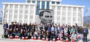 Başkan Genç, AB Erasmus projesi öğrenci ve öğretmenlerini ağırladı