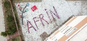Öğrencilerden anlamlı 'Afrin' mesajı
