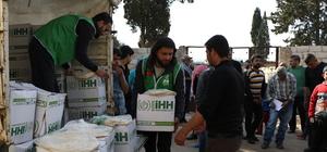 Terörden temizlenen Afrin'in Kavkabah köyüne insani yardım