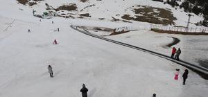 Kartalkaya'da kayak sezonu sona eriyor