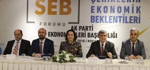 """Kocaeli'de """"Şehirlerin Ekonomik Beklentileri"""" forumu"""