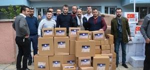 Fatsa'dan gönderilen fındık ezmeleri askerlere teslim edildi